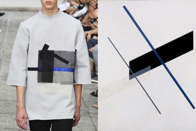 Details at Vladimir Karaleev Spring 2015 | Composition A XI by Laszlo Moholy-Nagy