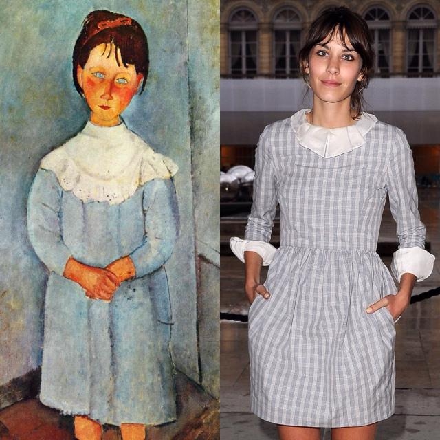 """""""Little Girl in Blue"""" by Amedeo Modigliani (1918) : Alexa Chung, Miu Miu Spring'11 Show in Paris."""