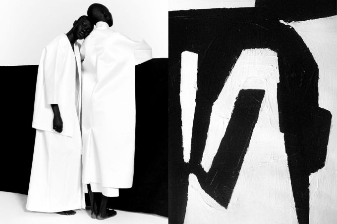"""""""Model Citizens"""" editorial photographed by PAUL JUNG and styled by Jessica Willis for Suited magazine   Artwork by Brian Elston"""