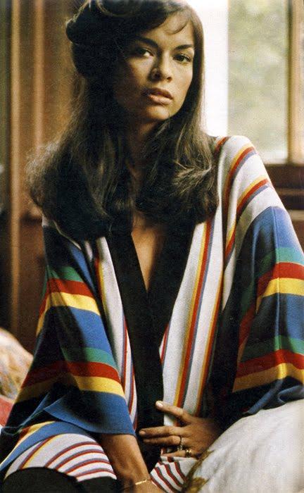 Bianca Jagger wearing Zandra Rhodes's for the Sunday Times Magazine, 1972