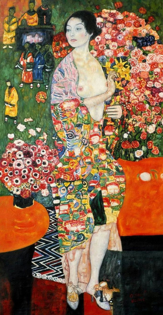 the dancer by gustave klimt